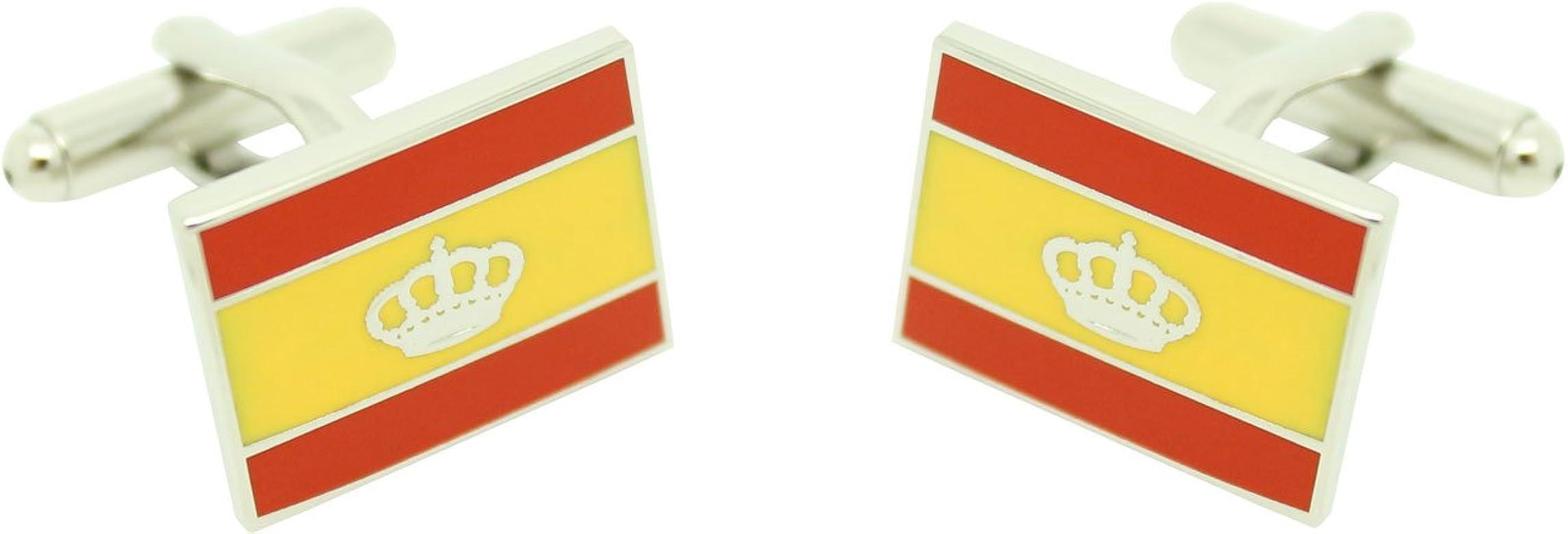 MasGemelos - Gemelos Bandera Naútica España Cufflinks: Amazon.es ...