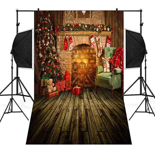 Dirance Christmas Theme Photo Backdrops 3x5ft, Photo Backgrounds for Photo Studio Weddings Party (D) -
