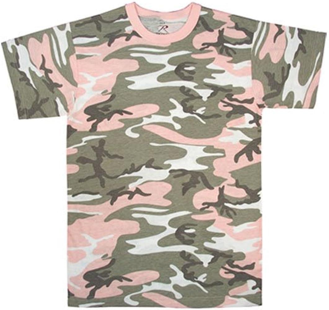 2102e63b8a1b Amazon.com: 8681 Subdued Pink Camouflage T-Shirt Medium: Clothing