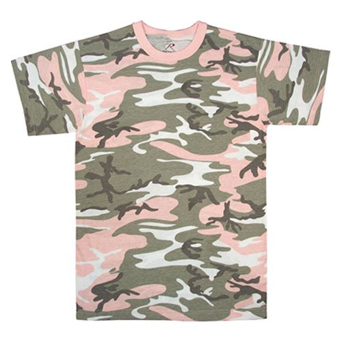 Amazon.com: Womens Camouflage T-Shirt, Subdued Pink: Clothing