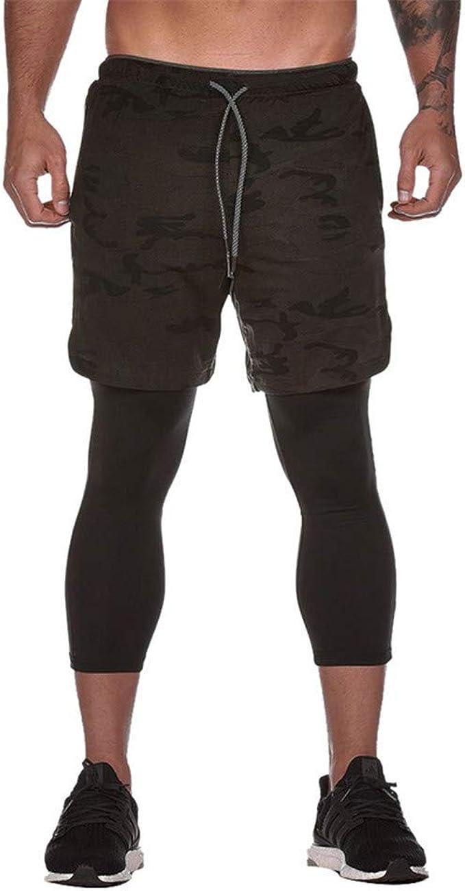 Men/'s Compression Leggings 3 quarter  Running Basketball Training Spandex Pants