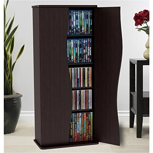 Pemberly Row 35'' Media Storage Cabinet in Espresso by Pemberly Row