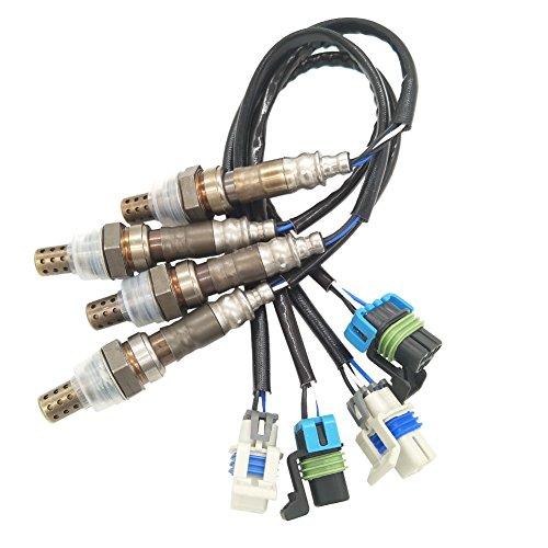 Price comparison product image JESBEN 4pcs Oxygen Sensor Lambda Sensor Downstream Upstream Fit For Escalade Silverado 1500 25000 Yukon Sierra 1500 2500 3500 H2 6.0L 2003-2006 234-4669 234-4407