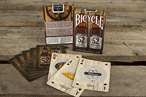 2 Decks Bicycle Craft Beer North America Standard Poker Playing Cards (Best Craft Beers In America)