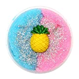 Kanzd Colorful Pineapple Mixing Cloud Cotton Candy Slime Scented Stress Kids Clay Toy (E)