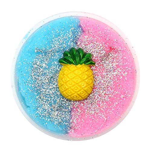 Hisoul Clay Toy Colorful Pineapple Mixing Cloud Cotton Candy Slime Squishy Mud Mixing Toy - Girls Boys Adults Scented Cloud Putty Kids Stress Relief Clay Toy, Super Soft (E) ()