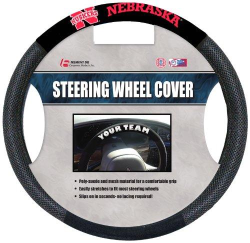 Fremont Die NCAA Nebraska Cornhuskers Poly-Suede Steering Wheel ()