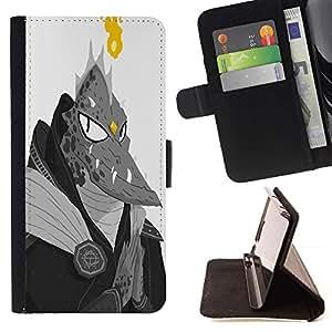 Momo Phone Case / Flip Funda de Cuero Case Cover - Monstruo extranjero Lagarto Hombre Dragón Ufo Fuego - Sony Xperia Z5 Compact Z5 Mini (Not for Normal Z5)