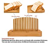 Toughard Bamboo Compact Foldable Bread Slicer