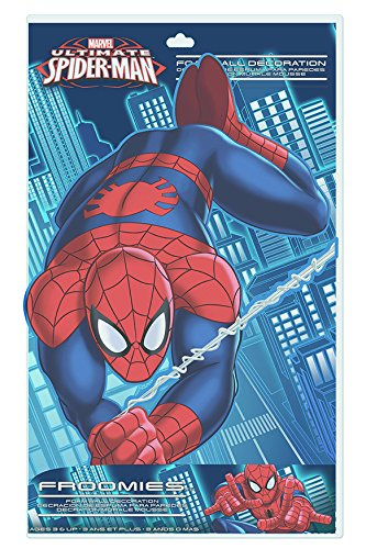 Froomies E062SP1 Marvel Foam Embossed Wall Decal, 18-Inch, Spider-Man