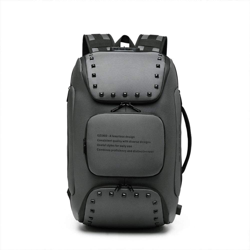 GWP Laptop Backpack Waterproof Oxford Backpack Outdoor Backpack High-Capacity Travel Business Daypack Bag Multifunctional Anti-Theft Computer Backpack