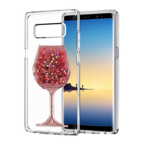 Holly Goblets - 3D Handmade Glitter Wine Glass Goblet Design Clear Anti-scrtach Shockproof Acrylic + TPU Soft Bumper Case for HUAWEI Y6II/ Y6 II/ Y6 2 (2016)/ Honor Holly 3/ Honor 5A 5.5 Inch(Wine Pink)