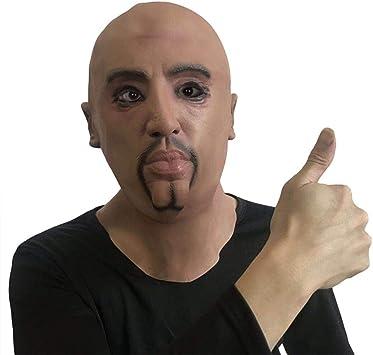 Maschera Ingannevole Articoli per Feste in Maschera in Costume Maschera Realistica a Forma di Viso da Giovane Maschera di Halloween Puntelli Cosplay Maschera in Lattice con Volto Umano Realistico