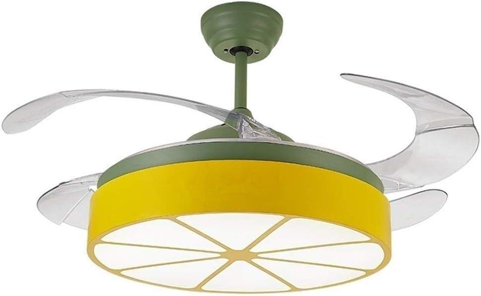 Zzxyxdd Ventiladores de Techo retráctiles de Luces de Techo Regulables con Luces y Ventilador de araña Invisible Moderno Remoto Art Deco (Size : Big)