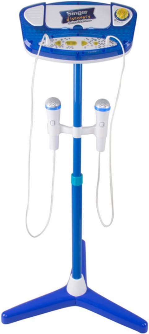 TONGJI Micro Karaok/é Enfant Jouet Microphone Karaoke Support R/églable avec Fonction de Musique Externe et Effet Lumi/ères Id/éal pour Enfants 3 Ans