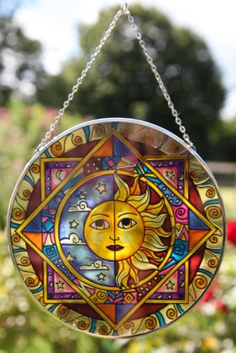 nd moon eclipse glass sun catcher ()