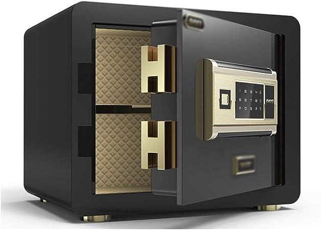 Caja fuerte Cajas de caudales Alarma Huella Digital Inteligente de Cajas de Seguridad Mini Arma de la joyería de Caja Caja de Seguridad, 5 mm de Espesor en la Pared: Amazon.es: Hogar