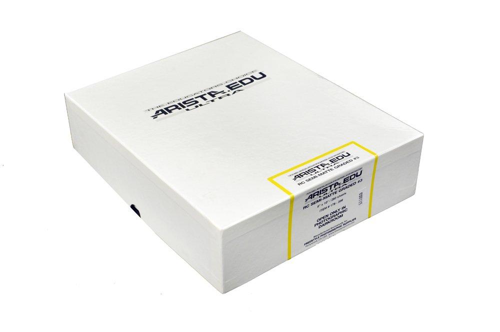 Arista EDU Ultra RC Black & White Photographic Paper, Semi-Matte #3 8x10, 250 Sheets