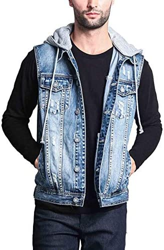 Victorious Rocker Denim Jean Vest product image
