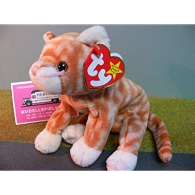 5Star-TD TY Beanie Baby - Amber The Gold Tabby Cat: Toys & Games [5Bkhe1402267]