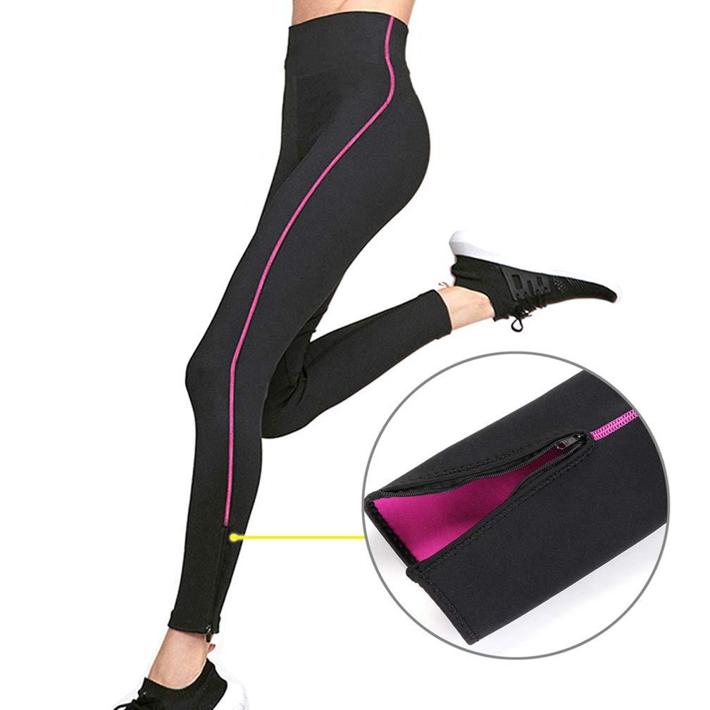 Women's Neoprene Sauna Pants High Waist Control Panty Shapewear Hot Thermo Sweat Leggings