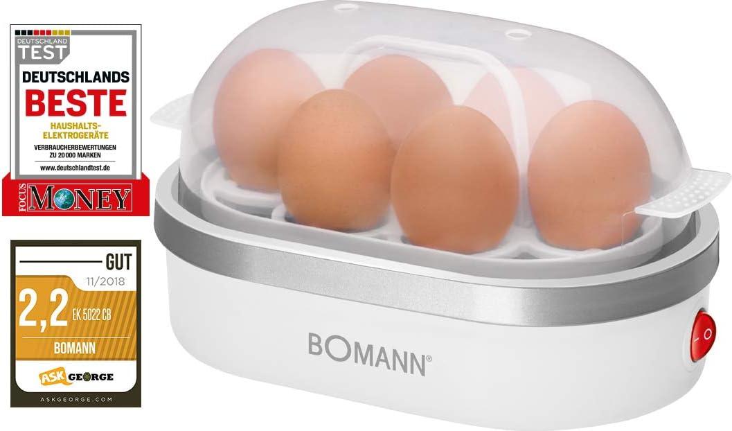 Bomann EK 5022 CB Blau Eierkocher für bis zu 6 Eier Ein-//Ausschalter