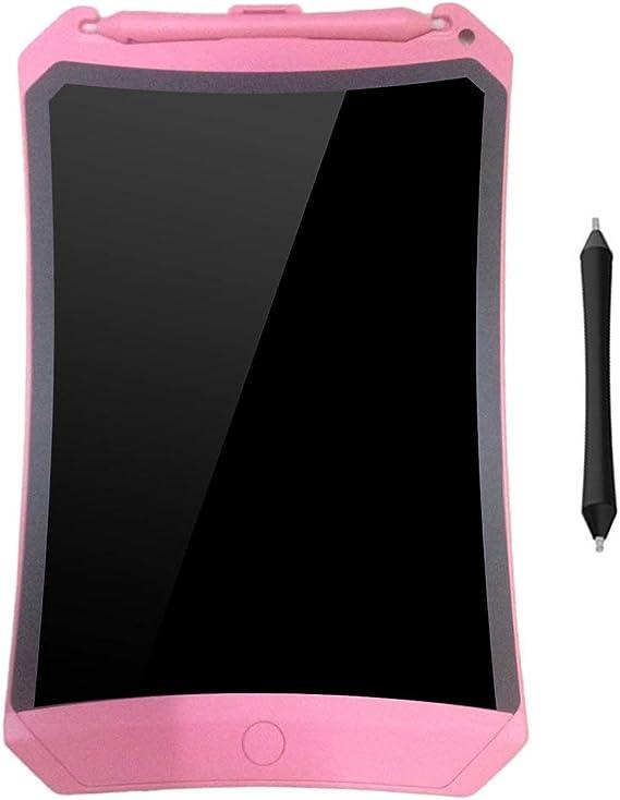 8.5インチLCDライティングタブレット電子ライティング落書きパッド描画ボードキッズギフトホームオフィススクールライティングボード(ピンク)