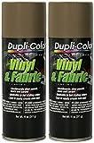 Automotive : Dupli-Color HVP113 Medium Beige High Performance Vinyl and Fabric Spray - 11 oz. - 2 Pack