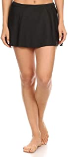 product image for Womens Plus Size Moderate Coverage Mid-Waist Skirt Swimsuit Bottom - Made in The USA