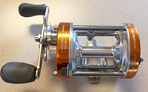 - Ming Yang CL60L Orange Baitcast Conventional Fishing Reel Lefthanded Left Catfish Saltwater