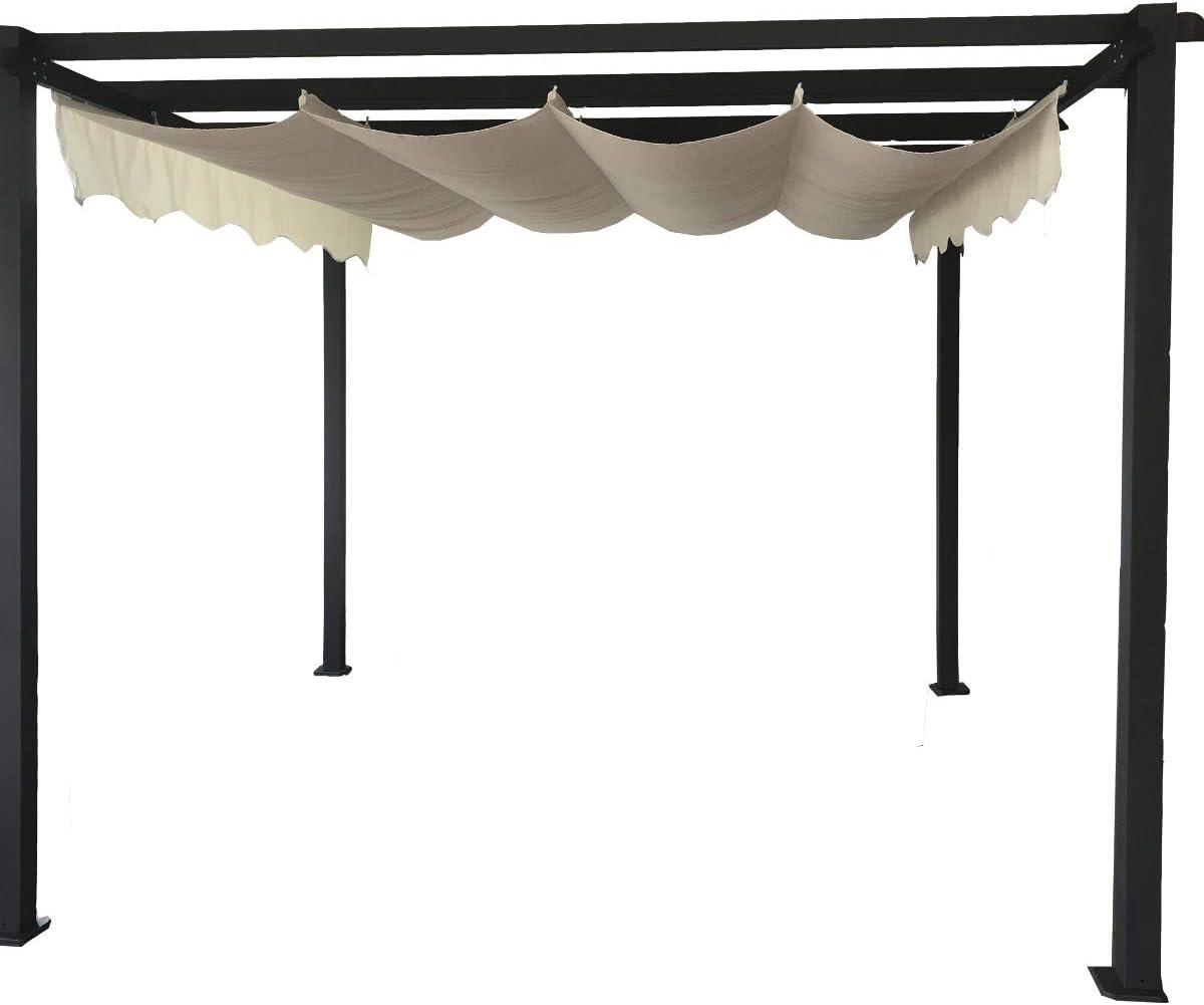 MONACO - Pantalla Solar para cenador de Metal, diseño de pérgola: Amazon.es: Jardín