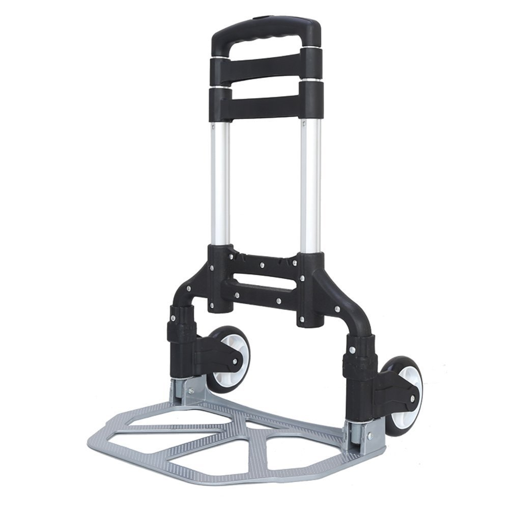 Folding Hand Truck Moving Dolly up to 171 LBS Capacity Aluminum Folding Hand Cart Platform Trolley