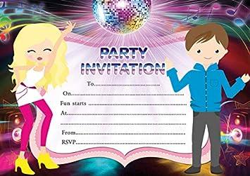 10 invitaciones de fiesta de cumpleaños para niños: Amazon ...
