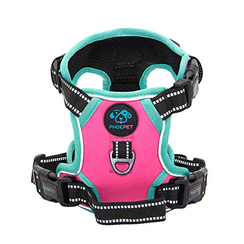 PHOEPET 2019 Reflective Dog Harness Large Breed (XL, Pink)