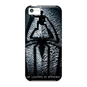 Apple Iphone 5c ZjW2522bshG Unique Design Lifelike The Amazing Spider Man Pictures Shock-Absorbing Cell-phone Hard Covers -TrevorBahri