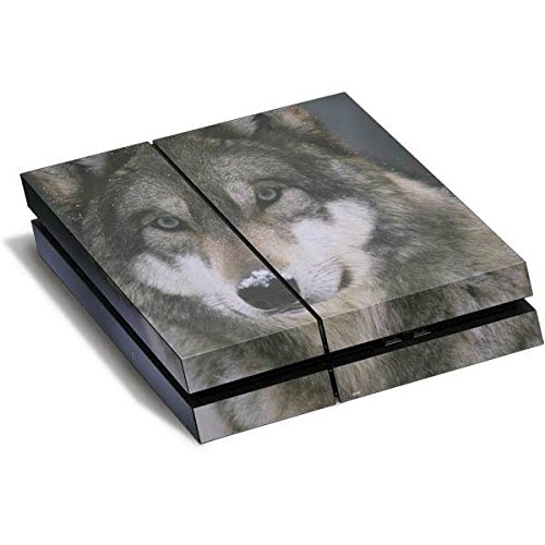 Animal Photography PS4 Horizontal (Console Only) Skin - Gray Wolf at International Wolf Center Vinyl Decal Skin For Your PS4 Horizontal (Console Only) by Skinit