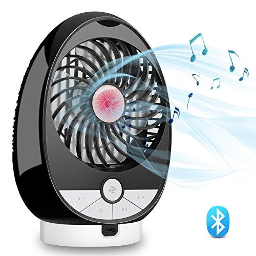 USBPersonalMusicFanBluetoothSpeakerAirFan - OLIISS 3SpeedsRechargeable DualChannelStereoSpeaker SupportBluetoothConnection&TFCard