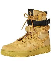 Nike SF Air Force 1_864024-700 Zapatillas para Hombre, Club Gold/Black, 9