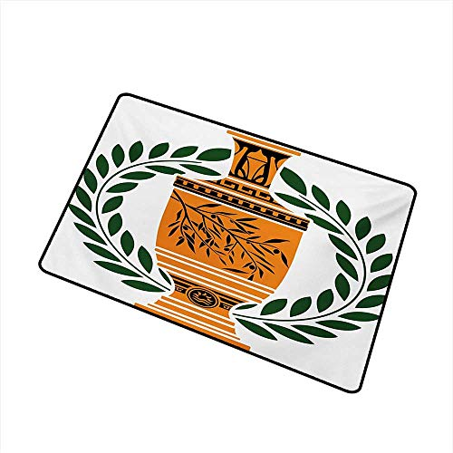 Antiques Persian Vase - Entrance Door mat Toga Party Old Antique Greek Vase with Olive Branch Motif and Laurel Wreath W24 xL35 All Season General