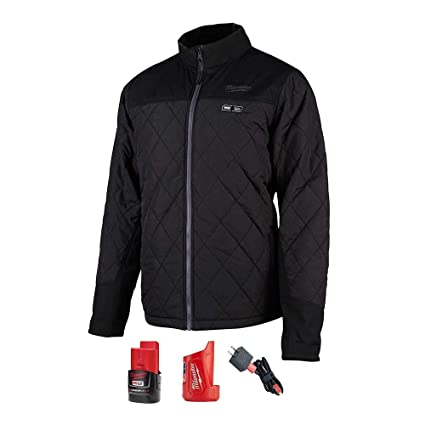 7f9843465 Milwaukee M12 12-Volt Lithium-Ion Cordless AXIS Heated Quilted Jacket Kit  Black (Extra Large)