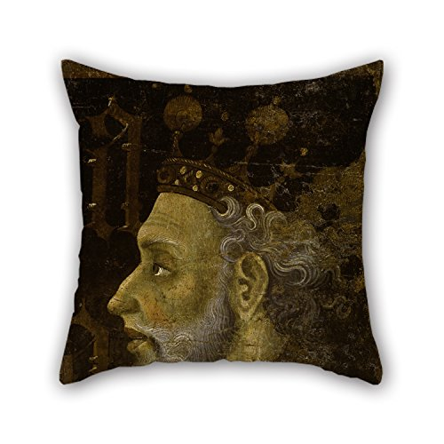 Artistdecor The Oil Painting Jaume Mateu - Alfons IV The Magnanimous Pillowcase Of ,18 X 18 Inches / 45 By 45 Cm Decoration,gift For Bench,festival,bf,bedroom,adults,drawing Room (both Sides)