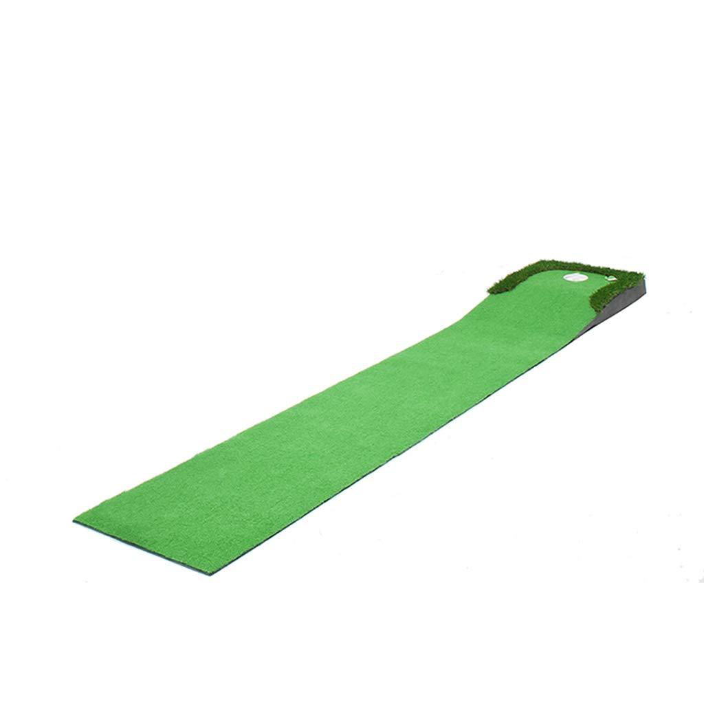 Xiao Mi Guo Jiゴルフマット - ロンググラススロープデザイングリーン、シミュレーションPutt TrainerPad +パター+フラグ+ 5ボールゴルフ練習用マット   B07NVCK4DY