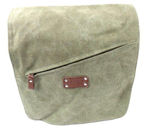 Calidad Lienzo Messenger Bag en 5colores 2591 verde oliva