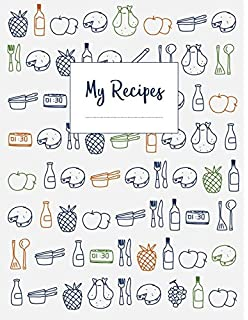 Recipe book to write in journal notebook recipe keeper organizer my recipes the xxl do it yourself cookbook to note down your 120 solutioingenieria Choice Image
