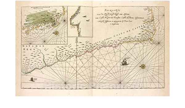 Amazon.com: Historic Map - 1672 Cape of Good Hope (South ...