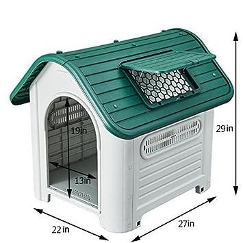 nilefen Casa de perro de plástico al aire libre casa de mascotas perro: Amazon.es: Productos para mascotas