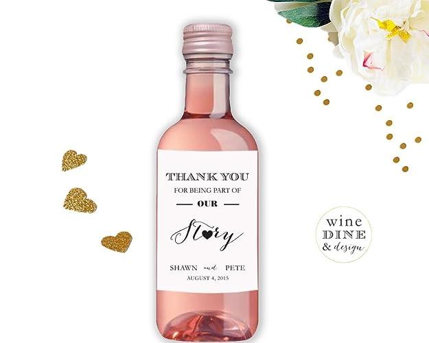 amazon com mini wine label wedding wine label thank you favors