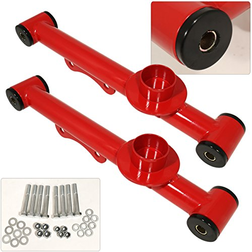 wer Control Camber Suspension Arm Kit Pair Performance Racing Red Set (Mustang Suspension Kit)