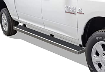 Exclude Chassis Cab Diesel Models APS iBoard Black Running Boards Style Compatible with 2009-2018 Dodge Ram 1500 Crew Cab Pickup 4-Door /& 2010-2019 Ram 2500 3500 Nerf Bars Side Steps Side Bars