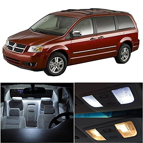 LED Bulb LED Interior Lights 10pcs White Package Kit Accessories Replacement Replacement fit for 2008-2015 Dodge Grand Caravan